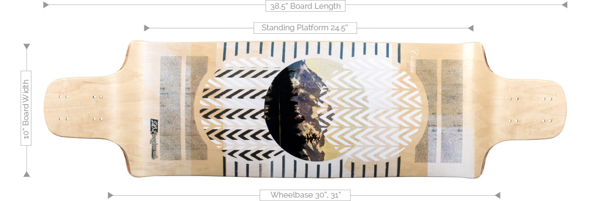 DB Longboards Contra 38.5 Deck Specifications