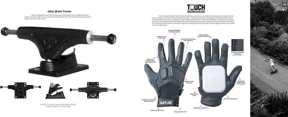 Skateboard Trucks and Slide Gloves